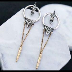Betsey Johnson modern long post earrings